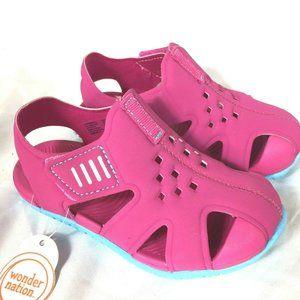 Wonder Nation Sandals Toddler Size 7 / 8 Pink NEW